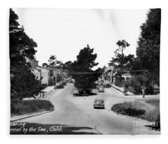 Entering Carmel By The Sea Calif. Circa 1945 Fleece Blanket