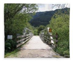 Entrance To Garland Park Fleece Blanket