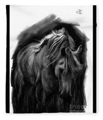 Equine 1 Fleece Blanket