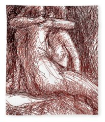 Erotic Drawings 19-2 Fleece Blanket