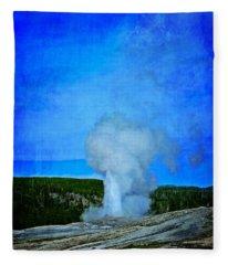 Eruption In Yellowstone Fleece Blanket