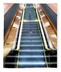 Escalator To Heaven Fleece Blanket