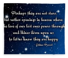 Eskimo Proverb Perhaps They Are Not Stars Fleece Blanket