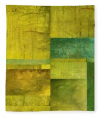 Essence Of Green Fleece Blanket