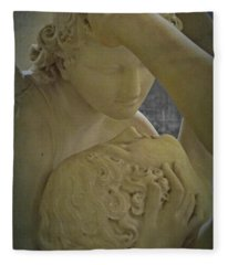 Eternal Love - Psyche Revived By Cupid's Kiss - Louvre - Paris Fleece Blanket