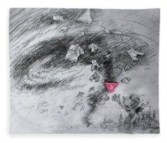 Usa Drawings Fleece Blankets