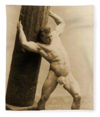Eugen Sandow Fleece Blanket
