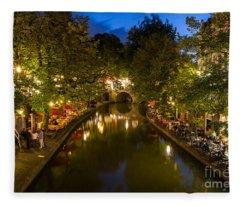 Evening Canal Dinner Fleece Blanket