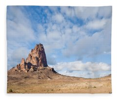 Evening Light On Agathla Peak Fleece Blanket