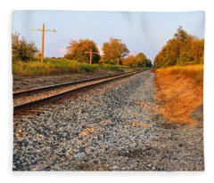 Evening Tracks Fleece Blanket