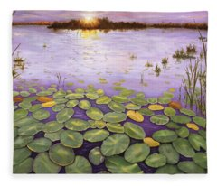 Everglades Evening Fleece Blanket