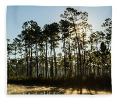 Everglades Sunrise Fleece Blanket