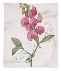 Everlasting Pea Fleece Blanket