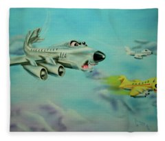 Extreme Airline Mergers Fleece Blanket