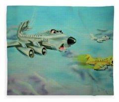 Extreme Airline Mergers Fleece Blanket