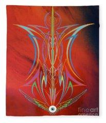 Eye Flying Fleece Blanket