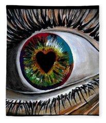 Eye Love You Fleece Blanket