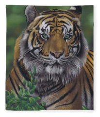 Eye Of The Tiger Fleece Blanket