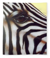 Eye Of The Zebra Fleece Blanket