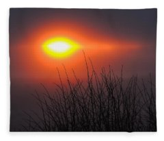 Eye Of Winter Fleece Blanket