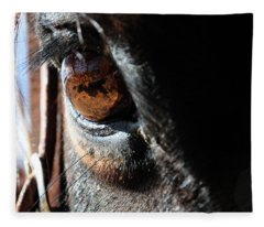 Eyeball Reflection Fleece Blanket