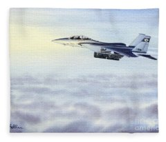 F-15 Eagle Fleece Blanket