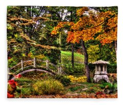 Fabyan Japanese Gardens I Fleece Blanket