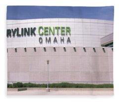Facade Of A Convention Center, Century Fleece Blanket