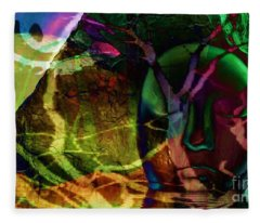 Face In The Rock Moon Glow And Night Vision Fleece Blanket