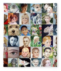 Facebook Of Faces Fleece Blanket