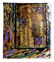 Faces In The Doorway Fleece Blanket