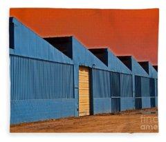 Factory Building Fleece Blanket