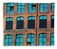 Factory Windows Fleece Blanket