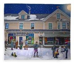 Faddens General Store In North Woodstock Nh Fleece Blanket