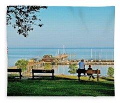 Fairhope Alabama Pier Fleece Blanket