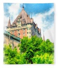 Fairmont Le Chateau Frontenac Fleece Blanket