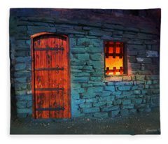 Fairy Tale Cabin Fleece Blanket