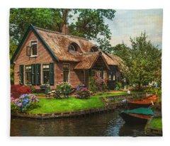 Fairytale House. Giethoorn. Venice Of The North Fleece Blanket