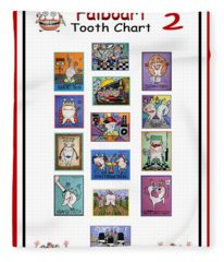 Falboart Tooth Chart Number 2 Fleece Blanket
