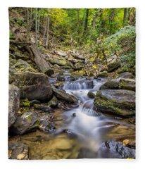 Fall Arrives At Amicalola Falls Fleece Blanket