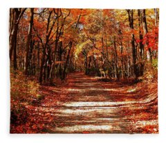 Fall At Cheesequake Fleece Blanket