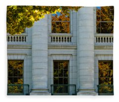 Fall At The Capitol Fleece Blanket