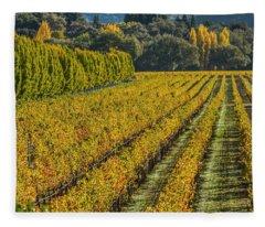 Fall Color Napa Style Fleece Blanket