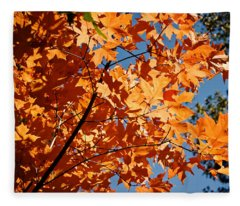 Fall Colors 2 Fleece Blanket