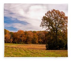 Fall Colors At Poets Walk Park Fleece Blanket