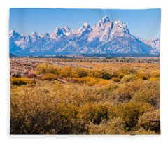 Fall Colors In The Tetons   Fleece Blanket
