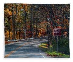 Fall Drive In Tennessee  1 Fleece Blanket