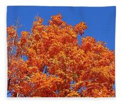 Fall Foliage Colors 19 Fleece Blanket