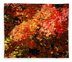 Fall Foliage Colors 21 Fleece Blanket
