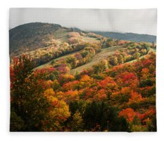 Fall Foliage On Canon Mountain Nh Fleece Blanket
